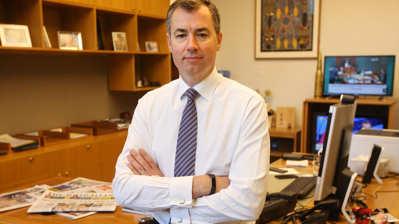 Human Services Minister Michael Keenan in his Canberra office. Picture: Kym Smith