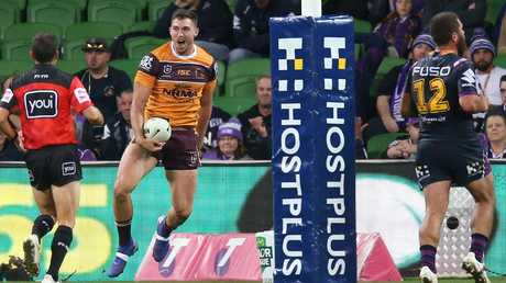 Corey Oates was in fine form for the Broncos against the Storm. Picture: Michael Dodge
