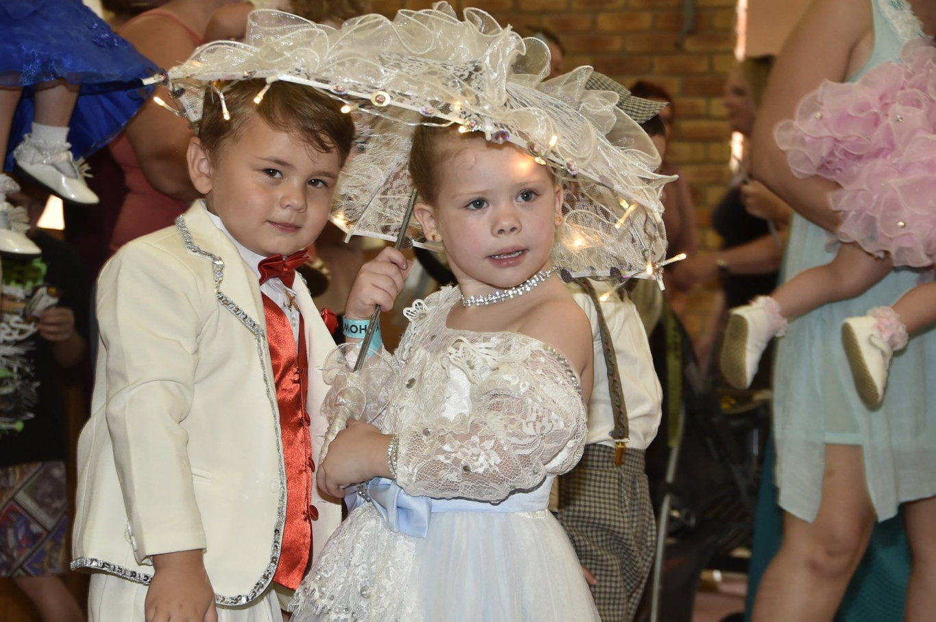 STUNNING OUTFITS: Winners of the previous Baby Show Time Baby show Hastin Mulford-Jackson (left) with Brianne Barry-Hughan.