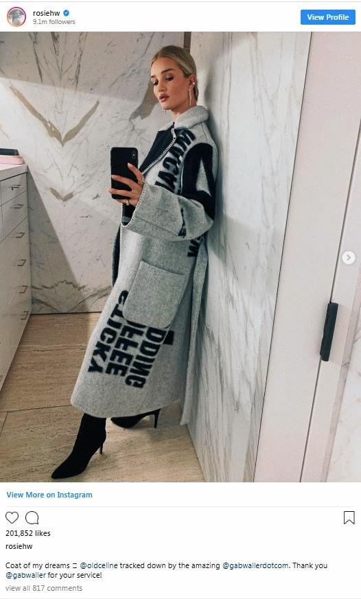 In the search for a sold-out Celine coat, British Supermodel and actress Rosie Huntington-Whiteley was introduced to former Rocky woman, Gabriel Waller. Gabriel found the coat in a matter of days.