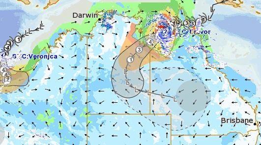 Bureau of Meteorology's MetEye modelling has the remnants of Cyclone Trevor on course to impact Queensland next week.