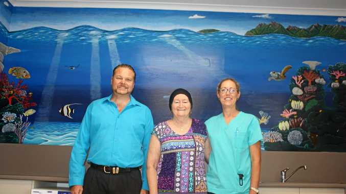 Mural brightens oncology ward