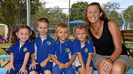 Gundiah State School Preppies: Ms Jodie NorrisL-R Prep StudentsJade Hill, Leon Cheers, Kane Davis and Bonnie Wilson.