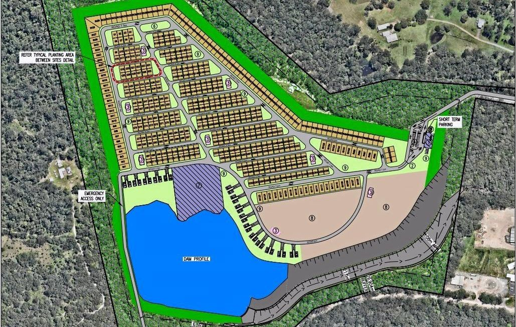 Brothers Peter and John Shadforth have lodged an impact-assessable development application for a tourist park at the site of their sand extraction business in Tanawha.