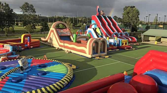 Inflatable playground set to pop up these school holidays