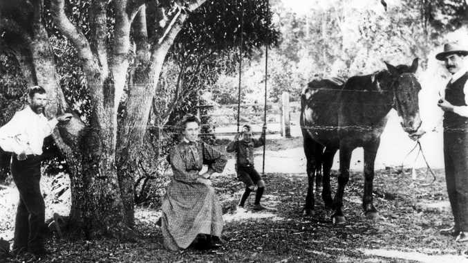 COFFEE CONVERTS: Mr and Mrs Harry Board with son Percy and Harry Collard in Buderim, ca 1907.