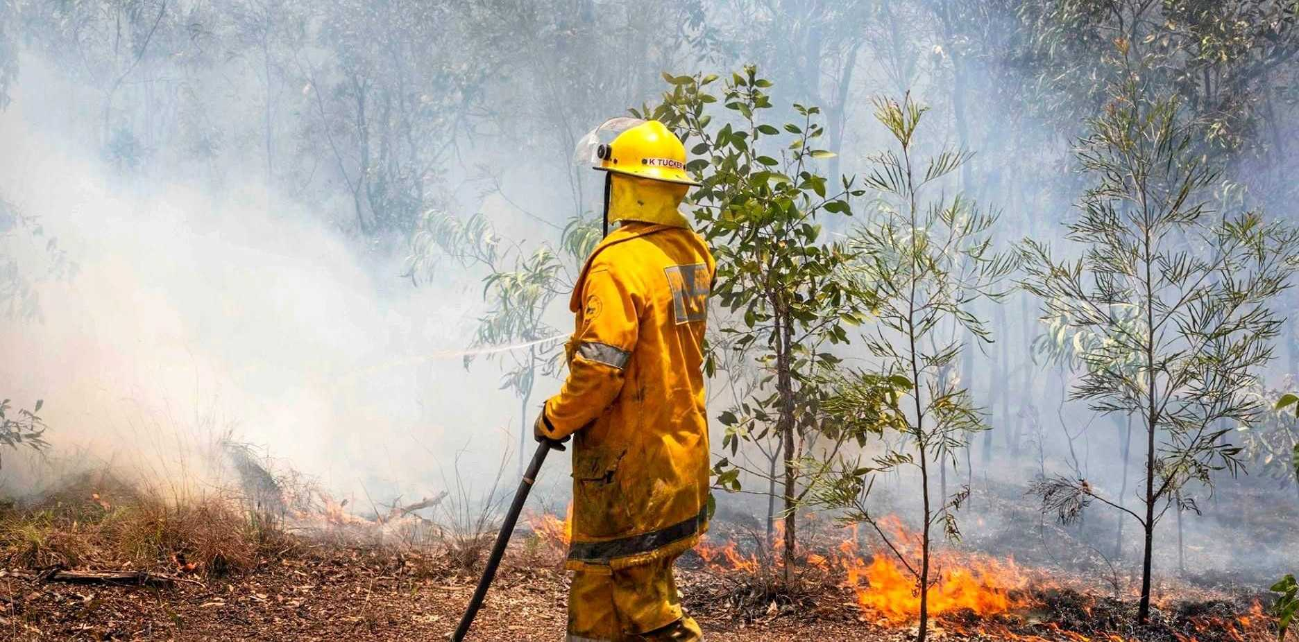 FIRE: A second Bundaberg blaze has sparked in Woongarra.