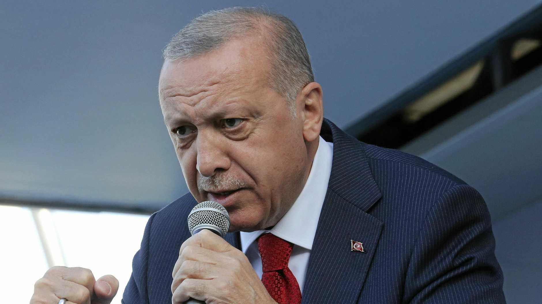 SHAME: Turkey's President Recep Tayyip Erdogan.