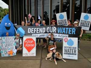 Protesters out to make a splash for water day