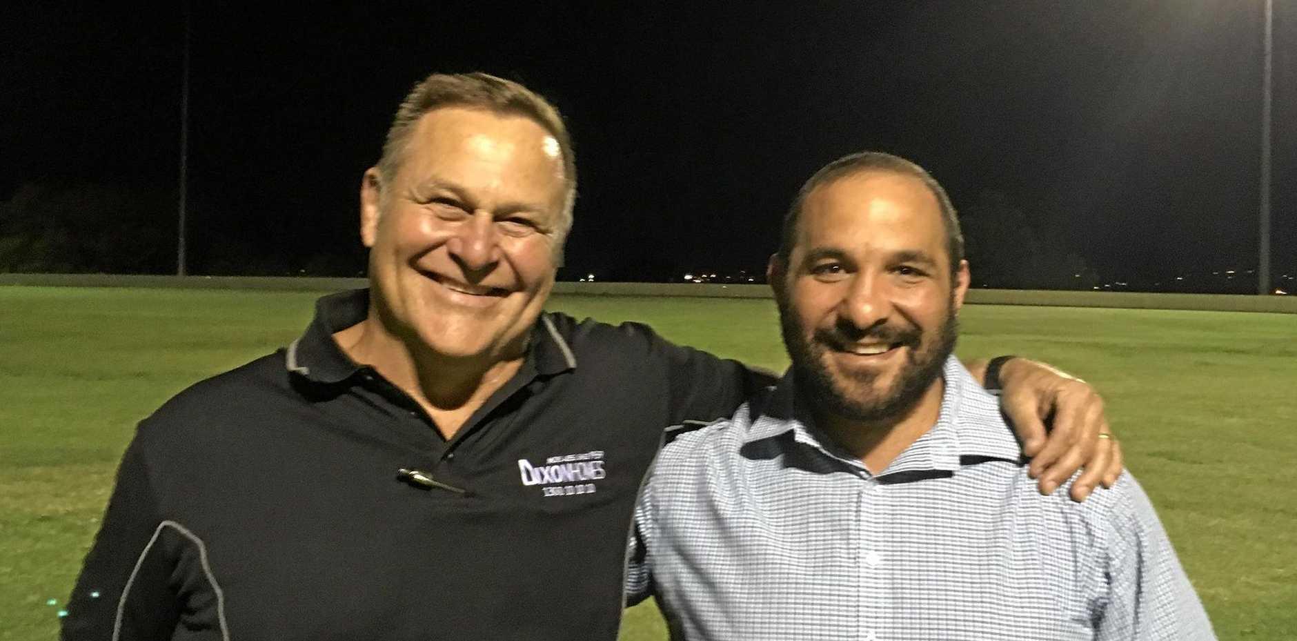 2019 Toowoomba Bears coaching team Bryan Battersby (left) and Mick Jarroush.