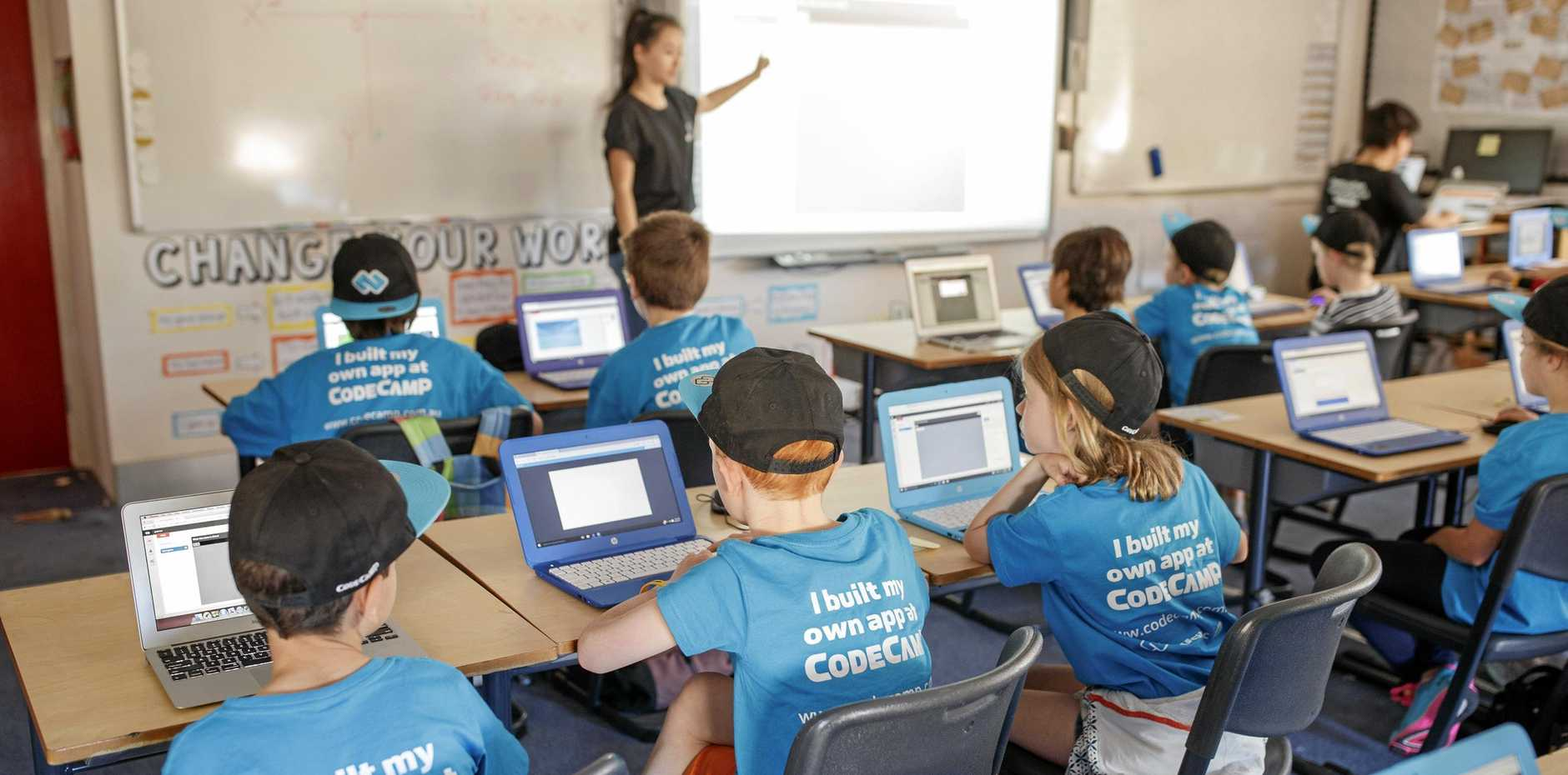 A Code Camp will be held in Proserpine for the first time in April to teach youngsters how to build their own app.