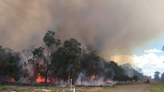 Smokey scene as seven crews attend Gooburrum bushfire