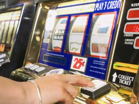 Another family took a punt at the pokies with their lump sum payment.