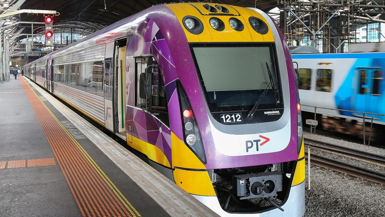 Current V/Line trains take an hour between Southern Cross and Geelong. Picture: Ian Currie