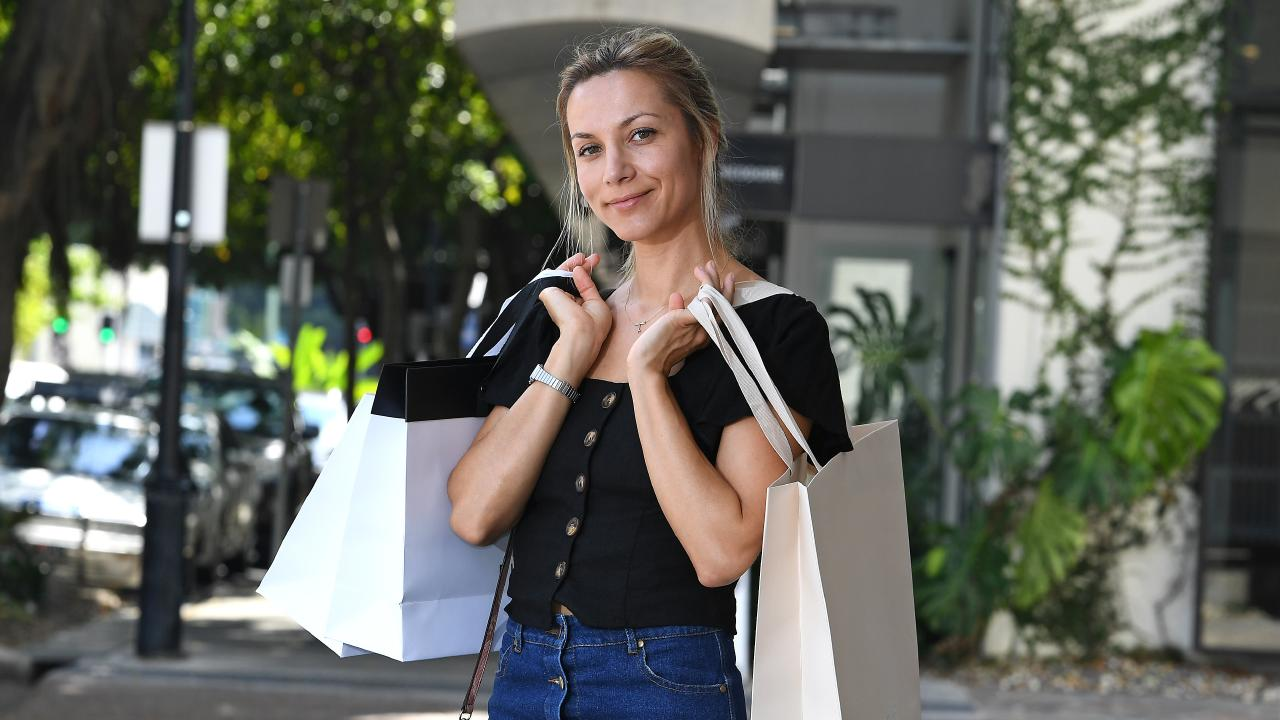 Mariann Illyes shopping at James St, Fortitude Valley this week. Picture: AAP image, John Gass
