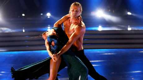 Jett Kenny and his dance partner Lily Cornish on Dancing With the Stars. Picture: Nigel Wright.