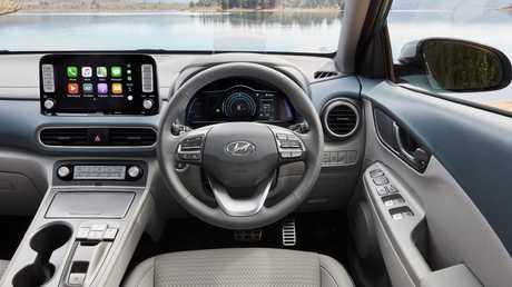 The Kona has a classy interior.