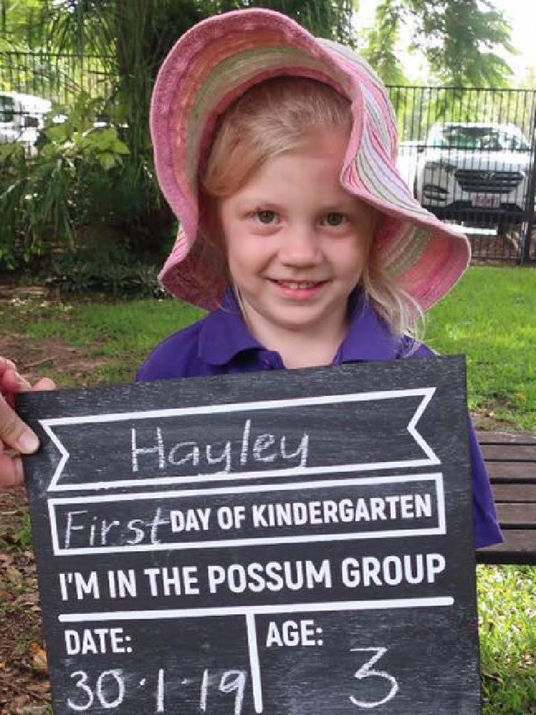 First day of kindergarten for Hayley Pattenden (Facebook image)