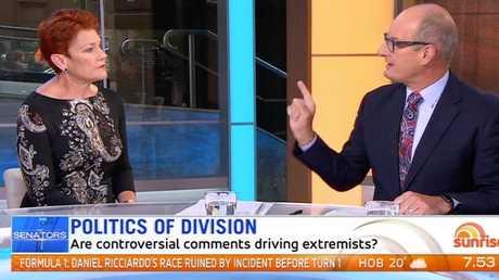David Koch challenged One Nation leader Pauline Hanson over her anti-Muslim rhetoric.