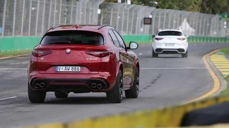 Take a turn: Stelvio QV sticks to the steered line under severe acceleration and braking