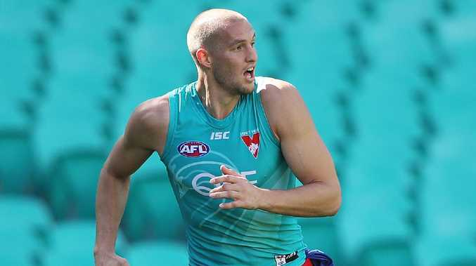 Sam Reid will partner Lance Franklin in a tall Sydney forward line. Picture: Phil Hillyard.