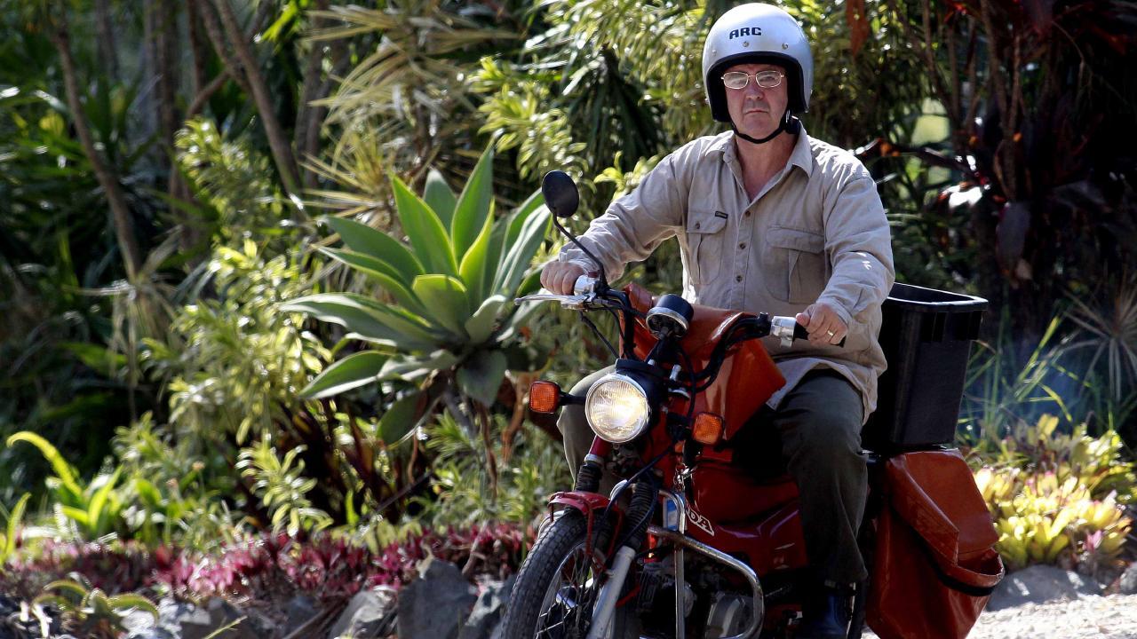 Steven Mark John Fennell as a postie on Macleay Island in 2012