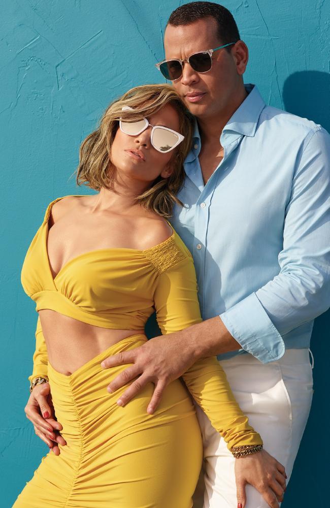 Her fiance, Alex Rodriguez, also appears in the ads. Picture: Quay Australia/Sasha Samsonova