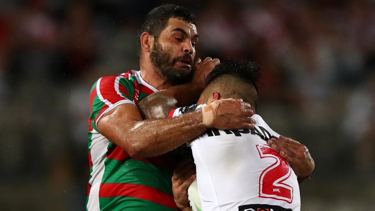 Greg Inglis missed six tackles against the Dragons.