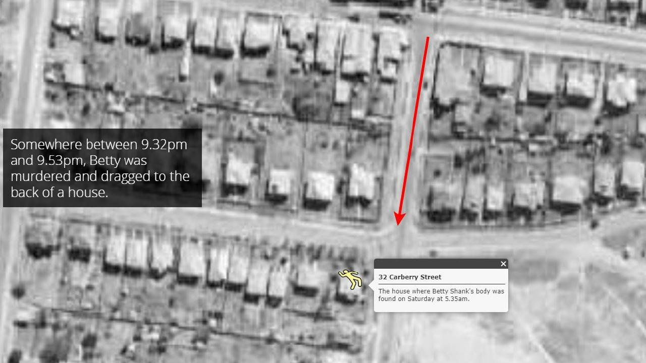 Betty Shanks hopped off the tram at Grange and began her short walk home towards her parents place. Sadly she never made it. Picture: Esri Australia