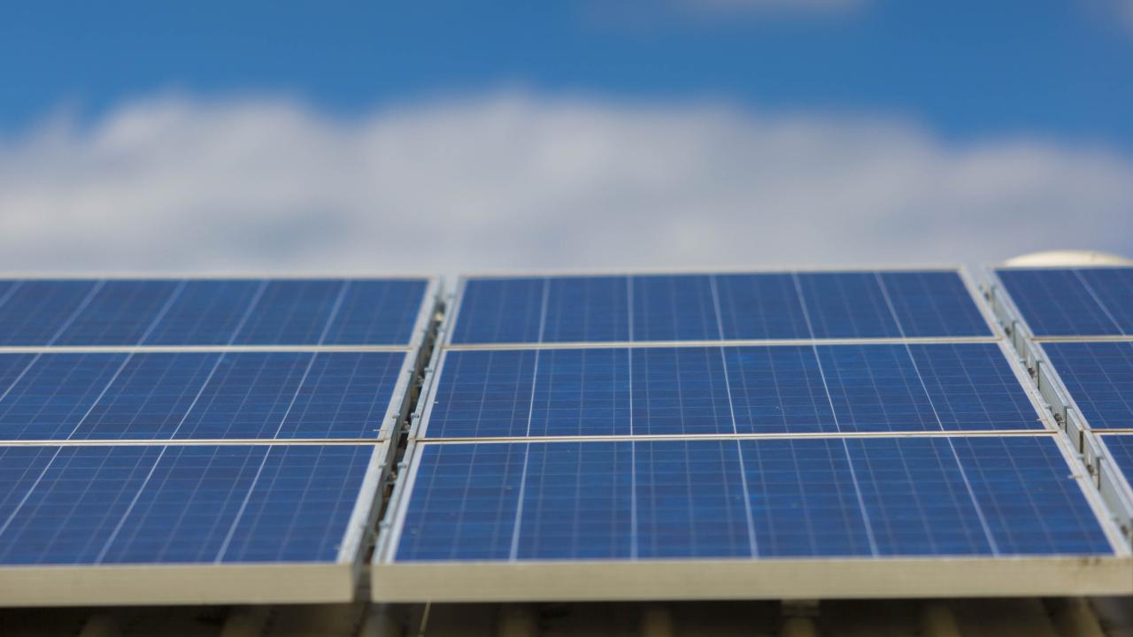 The solar panels will bring the city's total to 1877 installed on eight buildings. Picture: supplied