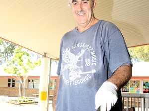 Scott Harradine runs the sausage BBQ at Centaur
