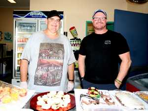 Tuckshop dads Scott Gibson and Jason Wallace at