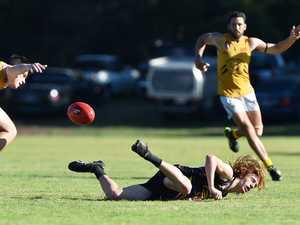 AFL: Caloundra V Springwood. Caloundra's Lachlan
