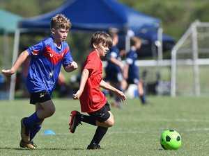 Junior Soccer. Caloundra's Jake Nielson.
