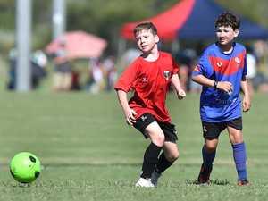Junior Soccer. Caloundra's Patrick Eden.