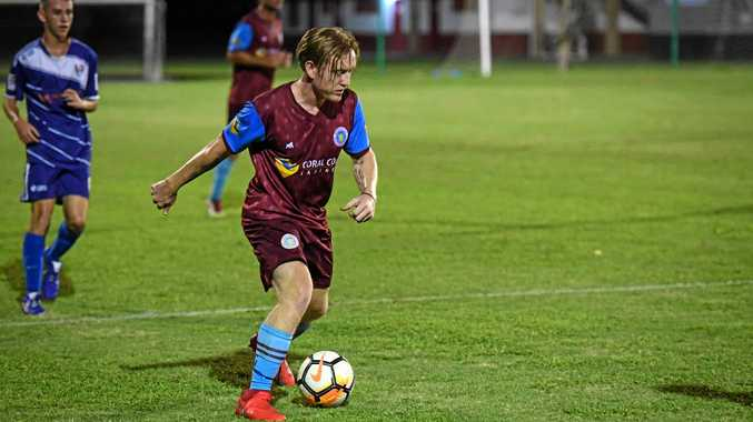 GOT THE MOVES: Brothers Aston Villa player Domonic Binns scores in last week's FFA Cup.