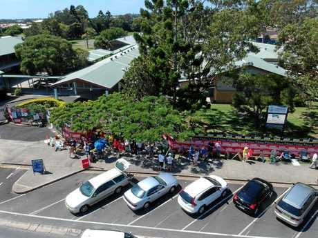 Aerial view of Centaur Primary School.