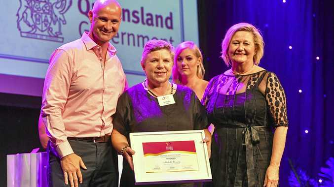 HUMBLED: Budget Rent-A-Car Gladstone owner Michelle Comley was the inaugural recipient of the Regional Industry Award at the Central Queensland Women in Business Awards.