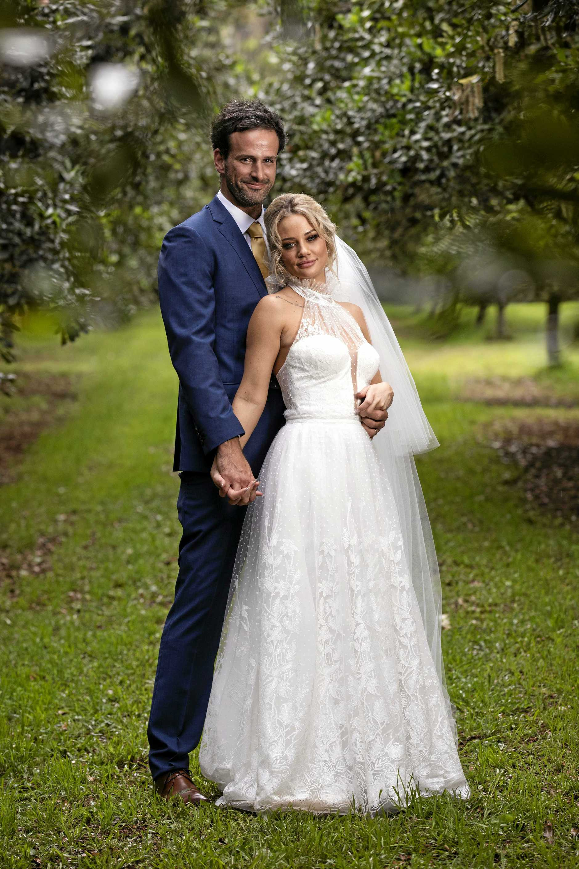 Mick Gould and Jessika Power tied the knot on Married At First Sight. Supplied by Channel 9.