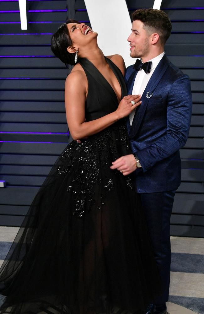The couple put on a loved-up display at the Vanity Fair Oscar party last month. Picture: Getty Images