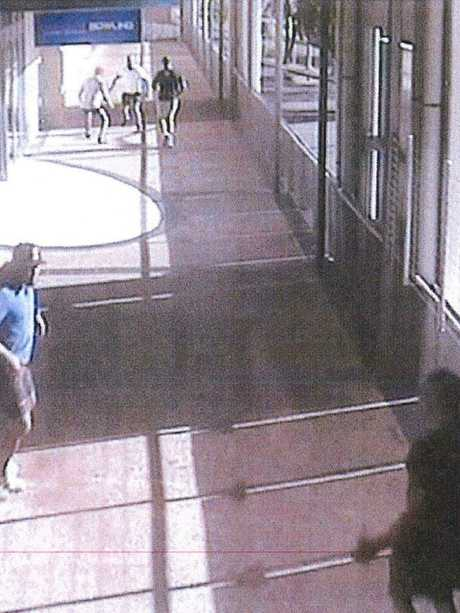 Moments before the confrontation began. Picture: Queensland Police Service