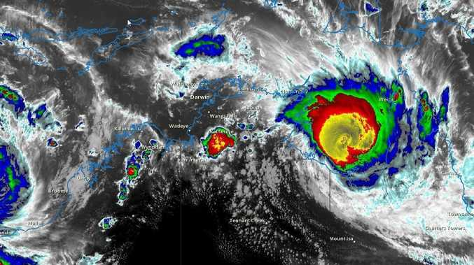 'Very destructive' Cyclone Trevor crosses NT coast