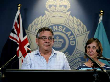 Karen Edwards' brother Barry Edwards and sister Robyn Banks (above) appeal for information into the unsolved murder. Picture AAP/David Clark