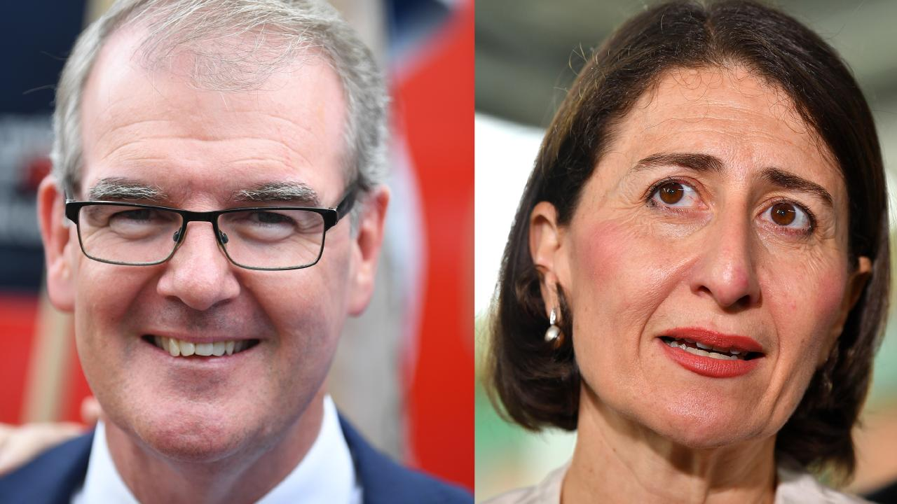 NSW Opposition Leader Michael Daley and Premier Gladys Berejiklian in a titanic battle for the state's leadership. Picture: Lukas Coch, Dean Lewins/AAP