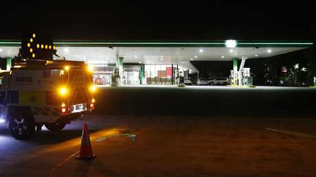 BP Burpengary, the scene of Thursday evening's tragedy. Picture: Josh Woning/AAP