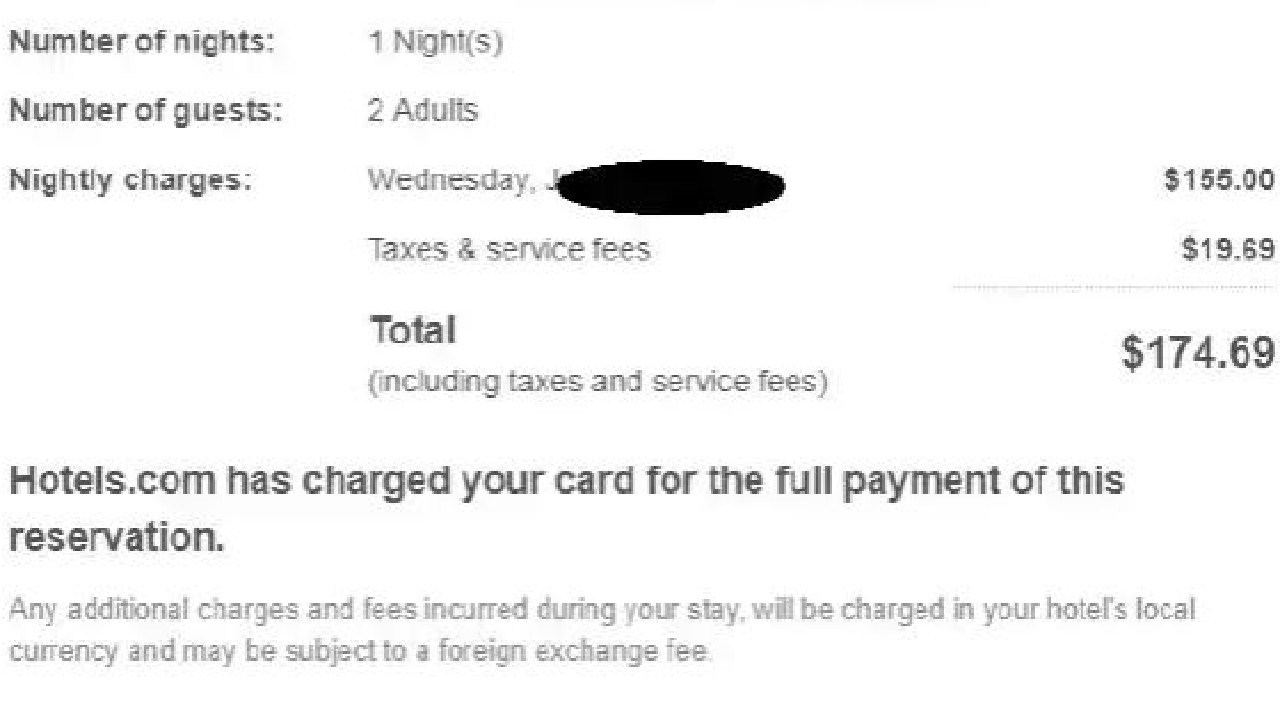 The hotel price didn't mention the resort fee, and had me believe I had paid in full.
