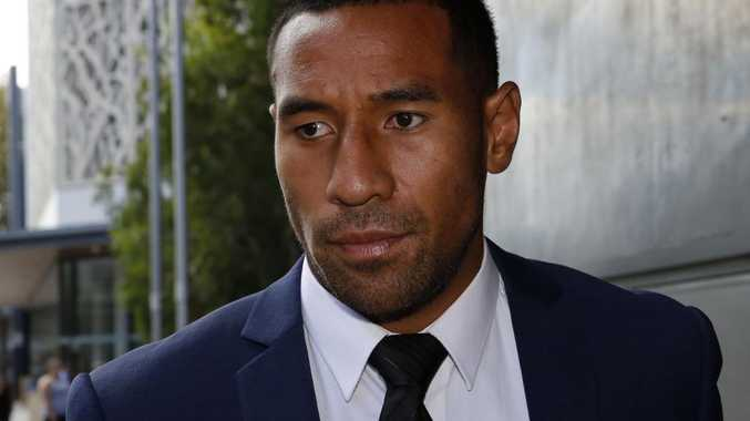Newcastle Knights player Tautau Moga leaving Newcastle Local Court on Thursday. Thursday Picture: Darren Pateman