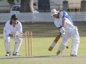 Rohan Hackett hits a huge straight six for Tucabia