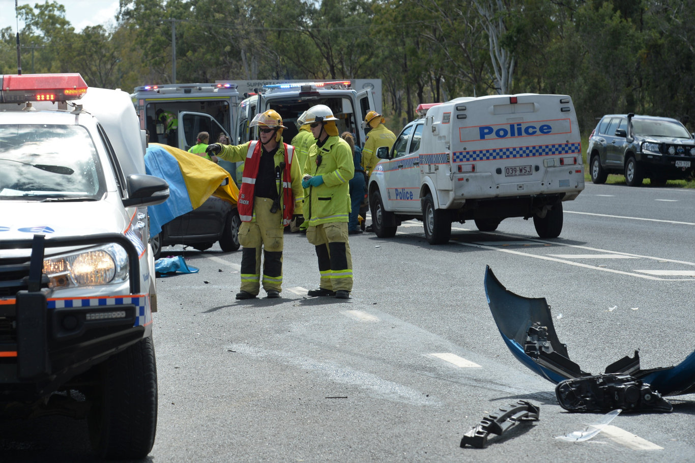 Several children were seriously injured in a two vehicle crash at the intersection of Yeppoon Rd and Arterial Rd, Ironpot.