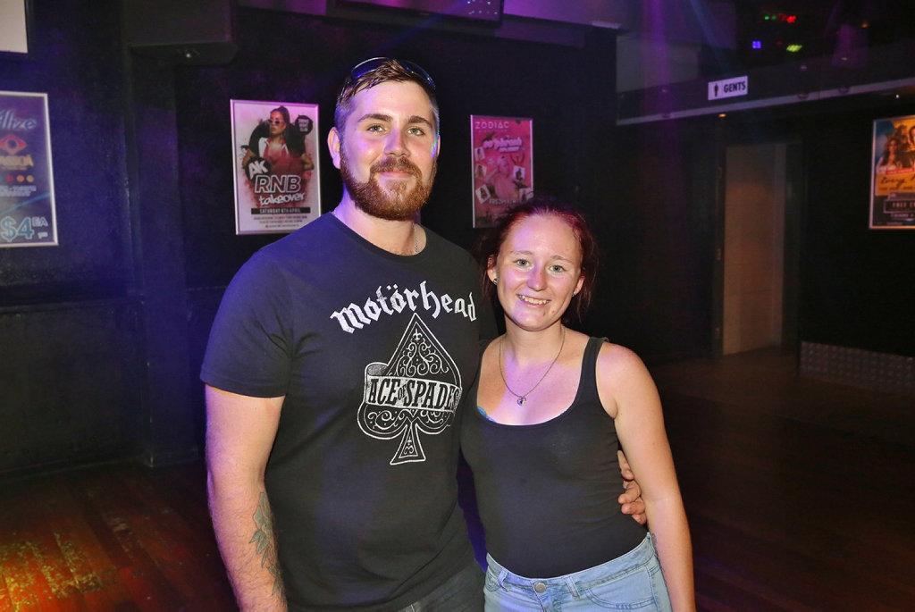 Image for sale: L-R Coen Reid and Chennae Hansen at Zodiac Nightclub.
